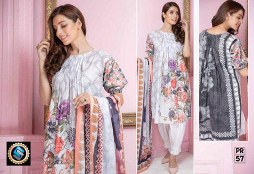 PR-57 SAFWA DRESS DESIGN, DRESSES, PAKISTANI DRESSES, PRAHA COLLECTION - 3 PIECE SUIT 2019-Three Piece Suit-SAFWA -SAFWA Brand Pakistan online shopping for Designer Dresses