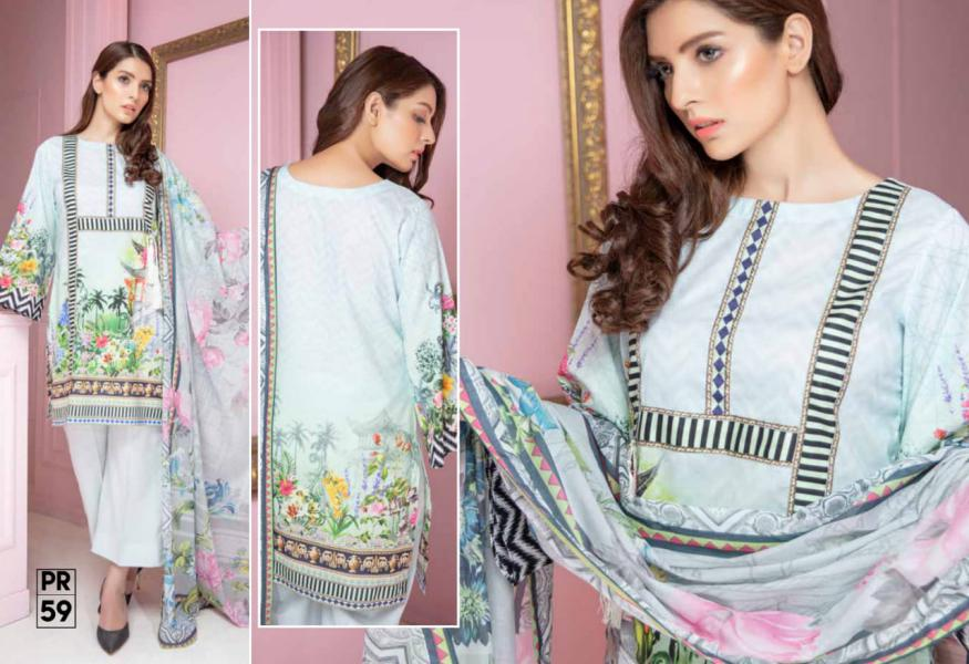 PR-59 SAFWA DRESS DESIGN, DRESSES, PAKISTANI DRESSES, PRAHA COLLECTION - 3 PIECE SUIT 2019-Three Piece Suit-SAFWA -SAFWA Brand Pakistan online shopping for Designer Dresses