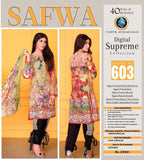 D-603 - SAFWA DIGITAL - SUPREME COLLECTION - EMBROIDERED - 3 PIECE SUIT - LAWN