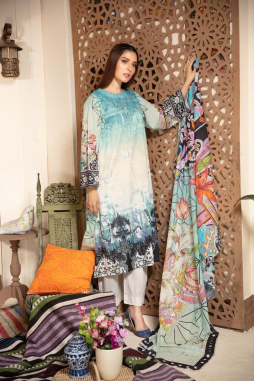 PR-61 SAFWA DRESS DESIGN, DRESSES, PAKISTANI DRESSES, PRAHA COLLECTION - 3 PIECE SUIT 2020 VOL 08 -Three Piece Suit-SAFWA -SAFWA Brand Pakistan online shopping for Designer Dresses