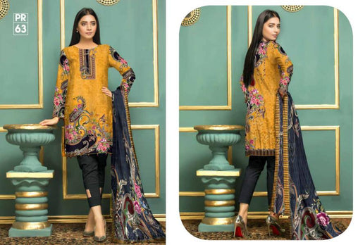 PR-63 SAFWA DRESS DESIGN, DRESSES, PAKISTANI DRESSES, PRAHA COLLECTION - 3 PIECE SUIT 2019-Three Piece Suit-SAFWA -SAFWA Brand Pakistan online shopping for Designer Dresses