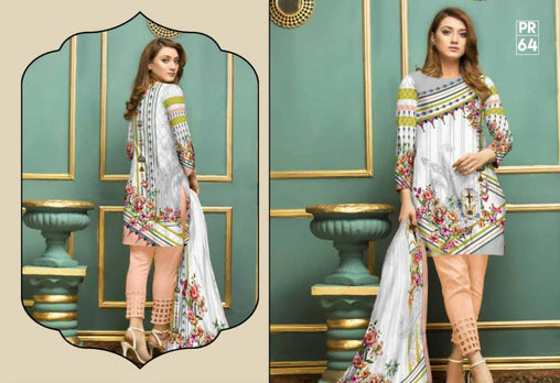 PR-64 SAFWA DRESS DESIGN, DRESSES, PAKISTANI DRESSES, PRAHA COLLECTION - 3 PIECE SUIT 2019-Three Piece Suit-SAFWA -SAFWA Brand Pakistan online shopping for Designer Dresses