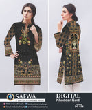 DG658 - SAFWA DIGITAL KHADDAR PRINT KURTI COLLECTION -SHIRT KURTI KAMEEZ