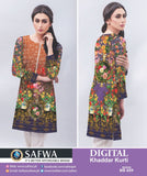 DG659 - SAFWA DIGITAL KHADDAR PRINT KURTI COLLECTION -SHIRT KURTI KAMEEZ