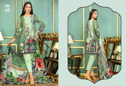 PR-65 SAFWA DRESS DESIGN, DRESSES, PAKISTANI DRESSES, PRAHA COLLECTION - 3 PIECE SUIT 2019-Three Piece Suit-SAFWA -SAFWA Brand Pakistan online shopping for Designer Dresses