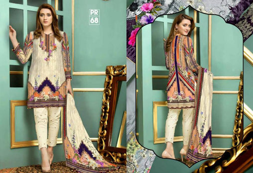 PR-68 SAFWA DRESS DESIGN, DRESSES, PAKISTANI DRESSES, PRAHA COLLECTION - 3 PIECE SUIT 2019-Three Piece Suit-SAFWA -SAFWA Brand Pakistan online shopping for Designer Dresses