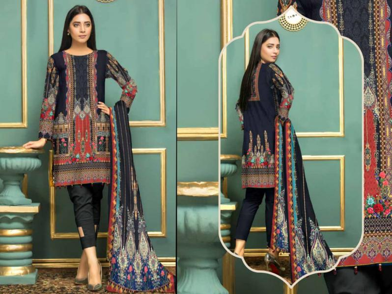 SL-69-SAFWA LAWN-SALVIA COLLECTION- PRINTED -2 PIECE DRESS - Safwa |Dresses| Pakistani Dresses| Fashion|Online Shopping