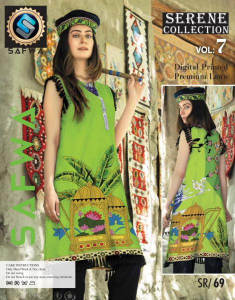 SP-69-SAFWA PREMIUM LAWN-SERENE PLUS COLLECTION-DIGITAL 2 PIECE - Safwa-Pakistani Dresses-Dresses-Kurti-Shop Online