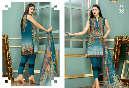 PR-70 SAFWA DRESS DESIGN, DRESSES, PAKISTANI DRESSES, PRAHA COLLECTION - 3 PIECE SUIT 2019-Three Piece Suit-SAFWA -SAFWA Brand Pakistan online shopping for Designer Dresses
