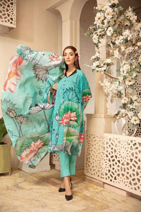 PR-76 - SAFWA PRAHA COLLECTION 3 PIECE SUIT 2020 - Three Piece Suit-SAFWA -SAFWA Brand Pakistan online shopping for Designer Dresses| SAFWA| DRESS| DESIGN| DRESSES| PAKISTANI DRESSES