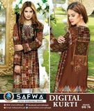 DG 78- SAFWA DIGITAL COTTON PRINT KURTI COLLECTION -SHIRT KURTI KAMEEZ