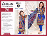 D 836 DIGITAL SAFWA GERMAN KHADDAR SHALWAR KAMEEZ  THREE PIECE COLLECTION