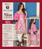 D-901 - SAFWA DIGITAL - MILAN COLLECTION - EMBROIDERED - 3 PIECE SUIT - LAWN