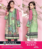 DG966 - SAFWA DIGITAL COTTON PRINT KURTI COLLECTION -SHIRT KURTI KAMEEZ