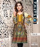 DG 99- SAFWA DIGITAL COTTON PRINT KURTI COLLECTION -SHIRT KURTI KAMEEZ