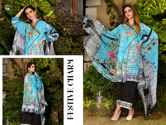 05-SAFWA-DIGITAL -COTTON-SATIN-LAUREL-COLLECTION-EMBROIDERED-3-PIECE-DRESS - Three Piece Suit - safwa