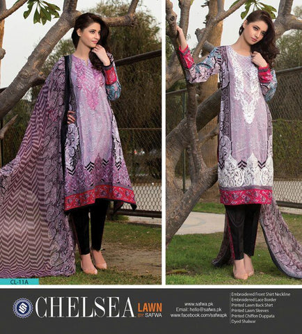 LIGHT ORCHID-UNSTITCHED-SAFWA-CL11A-Three Piece Suit-SAFWA Brand
