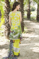 D-509-SAFWA LAWN-SANIA BATTLA COLLECTION-EMBROIDERED-2 PIECE DRESS