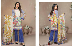 MC-07 - MODA COLLECTION Vol 1- 3PIECE SUIT-Lawn 2019 - Three Piece Suit - safwa