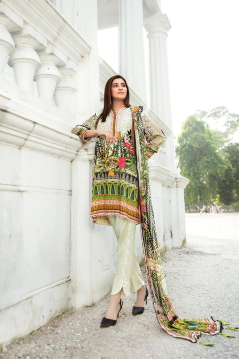 MCS-010 -SAFWA DIGITAL PRINTED MAPLE VISOCSE 3 PIECE COLLECTION - DIGITAL PRINTED 2020