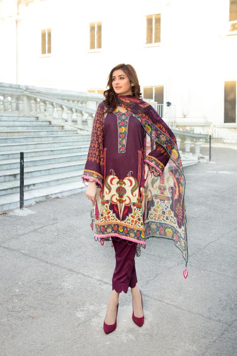 MCS-005 -SAFWA DIGITAL PRINTED MAPLE VISOCSE 3 PIECE COLLECTION - DIGITAL PRINTED 2020