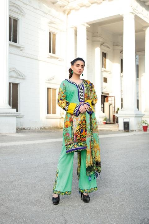 MCS-004 -SAFWA DIGITAL PRINTED MAPLE VISOCSE 3 PIECE COLLECTION - DIGITAL PRINTED 2020
