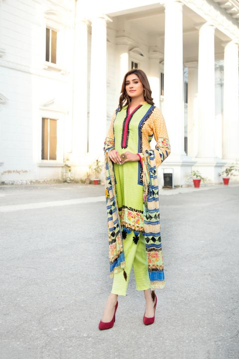 MCS-006 -SAFWA DIGITAL PRINTED MAPLE VISOCSE 3 PIECE COLLECTION - DIGITAL PRINTED 2020