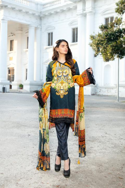 MCS-007 -SAFWA DIGITAL PRINTED MAPLE VISOCSE 3 PIECE COLLECTION - DIGITAL PRINTED 2020