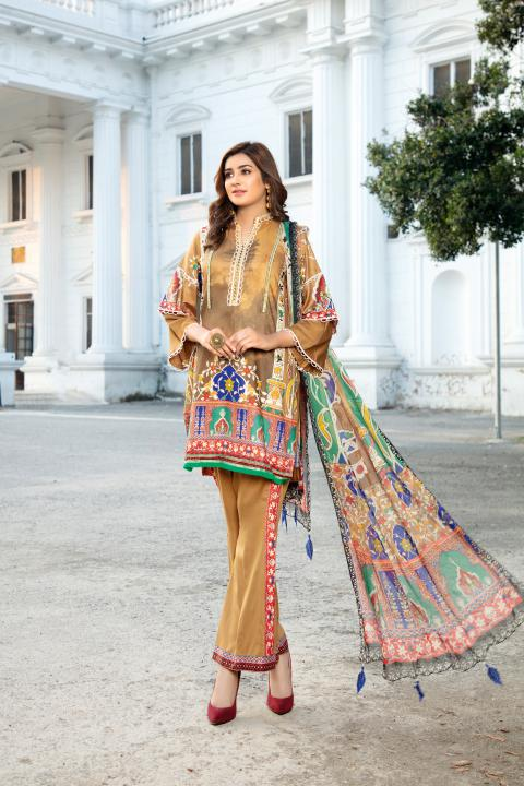 MCS-008 -SAFWA DIGITAL PRINTED MAPLE VISOCSE 3 PIECE COLLECTION - DIGITAL PRINTED 2020