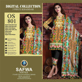 DIGITAL PAKISTANI SHALWAR KAMEEZ - KHADDAR - SAFWA OSCAR COLLECTION - OS801