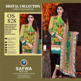 DIGITAL PAKISTANI SHALWAR KAMEEZ - KHADDAR - SAFWA OSCAR COLLECTION - OS828