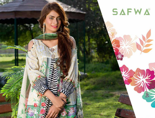 SAFWA DRESS DESIGN, DRESSES, PAKISTANI DRESSES, PR-09 - PRAHA COLLECTION - 3 PIECE SUIT 2019-Three Piece Suit-SAFWA -SAFWA Brand Pakistan online shopping for Designer Dresses