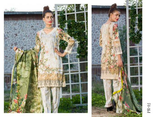 SAFWA DRESS DESIGN, DRESSES, PAKISTANI DRESSES, PR-12 - PRAHA COLLECTION - 3 PIECE SUIT 2019-Three Piece Suit-SAFWA -SAFWA Brand Pakistan online shopping for Designer Dresses