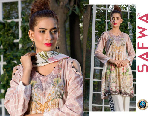 SAFWA DRESS DESIGN, DRESSES, PAKISTANI DRESSES, PR-13 - PRAHA COLLECTION - 3 PIECE SUIT 2019-Three Piece Suit-SAFWA -SAFWA Brand Pakistan online shopping for Designer Dresses