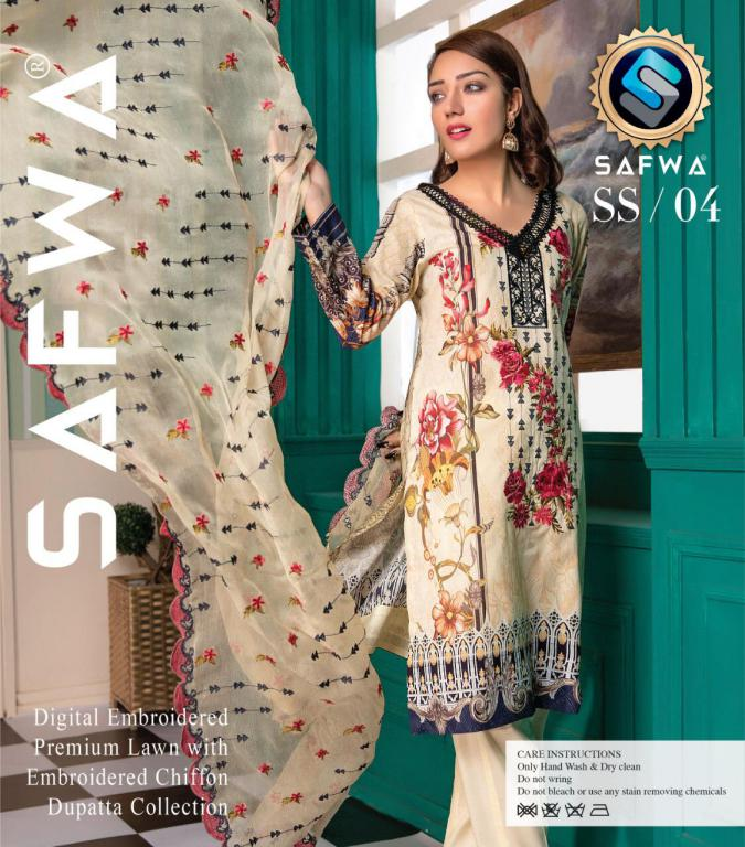 SS/ 04-EVA COLLECTION vol 1-3 PIECE SUIT SAFWA Three Piece Suit Dress Design, Pakistani Dresses, Online Shopping in Pakistan