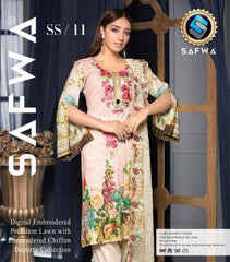 SS/ 11-EVA COLLECTION vol 1-3 PIECE SUIT SAFWA Three Piece Suit Dress Design, Pakistani Dresses, Online Shopping in Pakistan