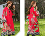SR/01- SAFWA PREMIUM LAWN - SERENE COLLECTION - DIGITAL  - SHIRT