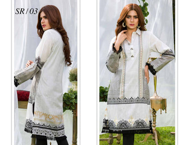 SR-03- SAFWA PREMIUM LAWN - SERENE COLLECTION - DIGITAL  - SHIRT