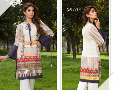SR-07 - SAFWA PREMIUM LAWN - SERENE COLLECTION - DIGITAL  - SHIRT