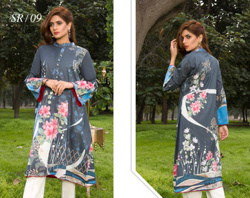 SR-09 - SAFWA PREMIUM LAWN - SERENE COLLECTION - DIGITAL  - SHIRT