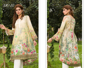 SR-10 - SAFWA PREMIUM LAWN - SERENE COLLECTION - DIGITAL  - SHIRT