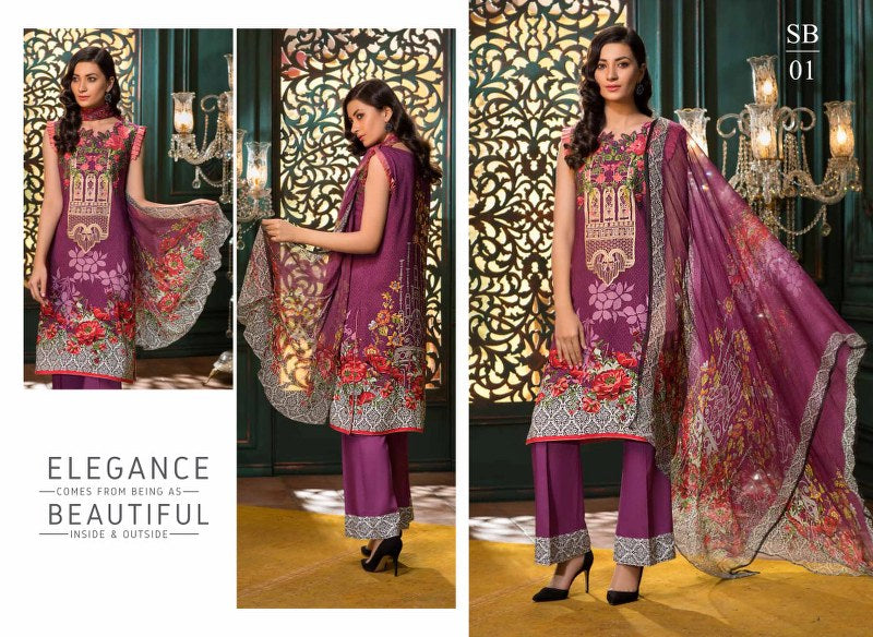 SB01 - BASHARA COLLECTION vol 1 - 4 PIECE SUIT