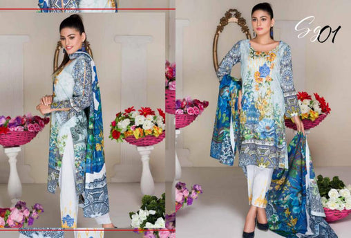 SG-01-GLORY COLLECTION vol 1-3 PIECE SUIT SAFWA Three Piece Suit Dress Design, Pakistani Dresses, Online Shopping in Pakistan