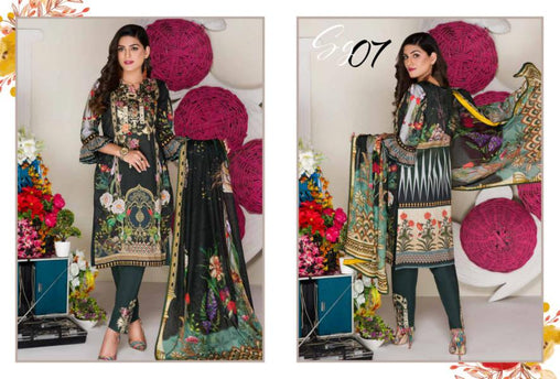 SG-07-GLORY COLLECTION vol 1-3 PIECE SUIT SAFWA Three Piece Suit Dress Design, Pakistani Dresses, Online Shopping in Pakistan