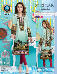 SSC-06 - SAFWA PREMIUM LAWN - STELLER COLLECTION Vol 1 2020 - EMBROIDERY DIGITAL - SHIRTS - Shirt-Kurti - safwa