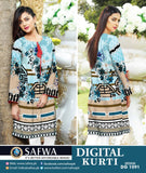 DG1091- SAFWA DIGITAL COTTON PRINT KURTI COLLECTION -SHIRT KURTI KAMEEZ
