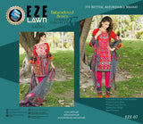 EZ-07 - SAFWA LAWN - EZE COLLECTION - EMBROIDERED - 3 PIECE DRESS