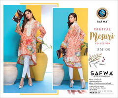 DM-06-SAFWA DIGITAL PRINTED MESURI COLLECTION VOL-1  2020 - MESURI LAWN SHIRT-KURTI