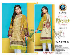 DM-20-SAFWA DIGITAL PRINTED MESURI SHIRT COLLECTION 2020 - MESURI LAWN SHIRT-KURTI