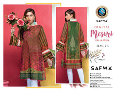 DM-23-SAFWA DIGITAL PRINTED MESURI SHIRT COLLECTION 2020 - MESURI LAWN SHIRT-KURTI